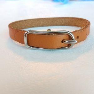 Hermés leather bracelet